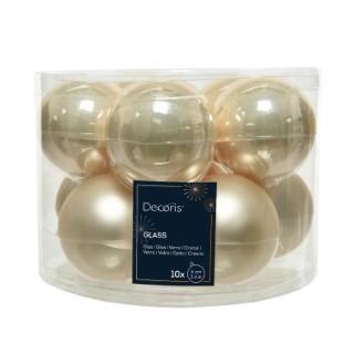 Boîte de 10 Boules Verre Ø6 cm 390842