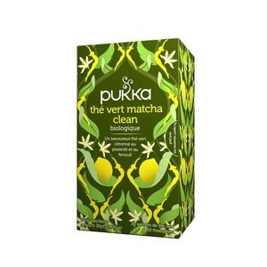 Thé vert matcha clean Pukka 20 infusettes 40g 395614