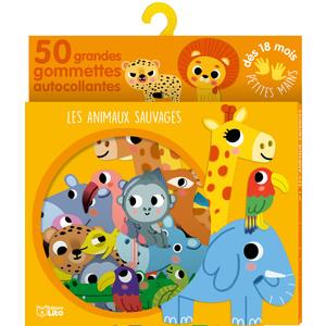 Les Animaux Sauvages Gommettes Petites Mains 18 mois Éditions Lito 395901
