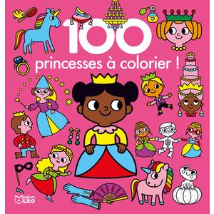 100 Fées et Princesses à Colorier 100 Images à Colorier 3 ans Éditions Lito 395911