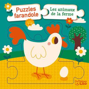 Les Animaux de la Ferme Puzzles Farandole 1 an Éditions Lito 395948