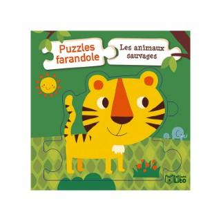 Les Animaux Sauvages Puzzles Farandole  1 an Éditions Lito 395949