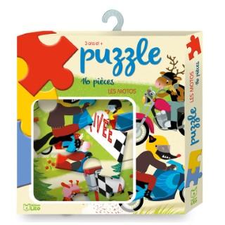 Les Motos Ma boîte à Jeux-Puzzle 3 ans Éditions Lito 395967