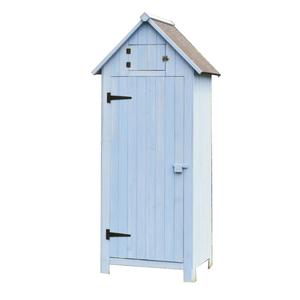 Armoire cabine de rangement 3 étagères bleues livrée 396373