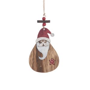 Ornement père Noël contreplaqué à suspendre 396834