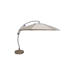Kit Easy Sun parasol déporté Ø 375 cm Taupe 396924