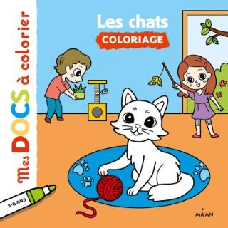 Les Chats Mes Docs à Colorier dès 3 ans Éditions Milan 398453