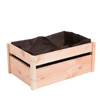 Cagette potagère en bois avec feutre géotextile botanic® -  52 x 35 x 23 cm  399239
