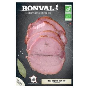 Rôti de porc cuit 180g / 4 tranches 399842