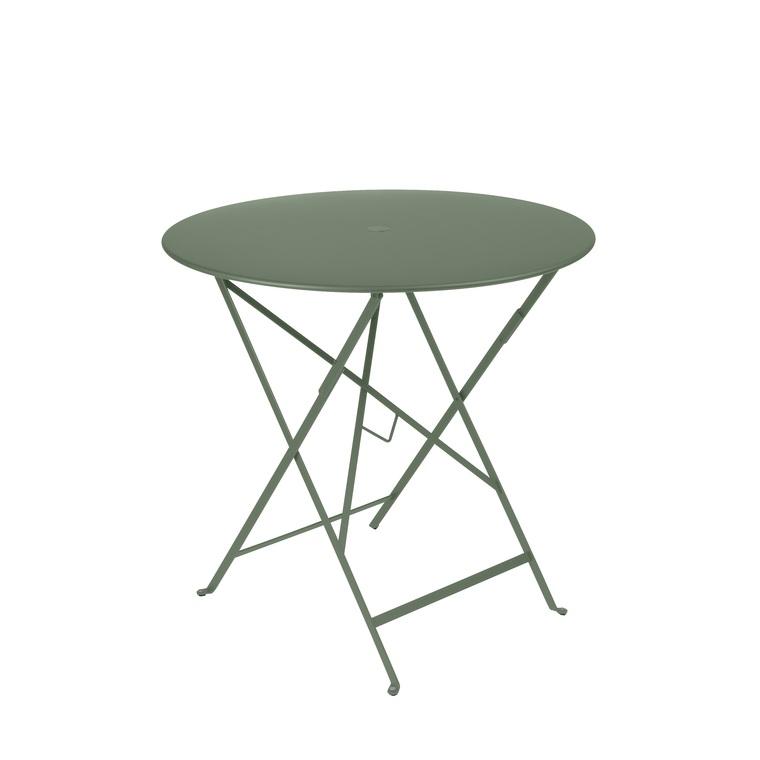 Table ronde pliante Bistro Cactus : Tables de jardin FERMOB ...