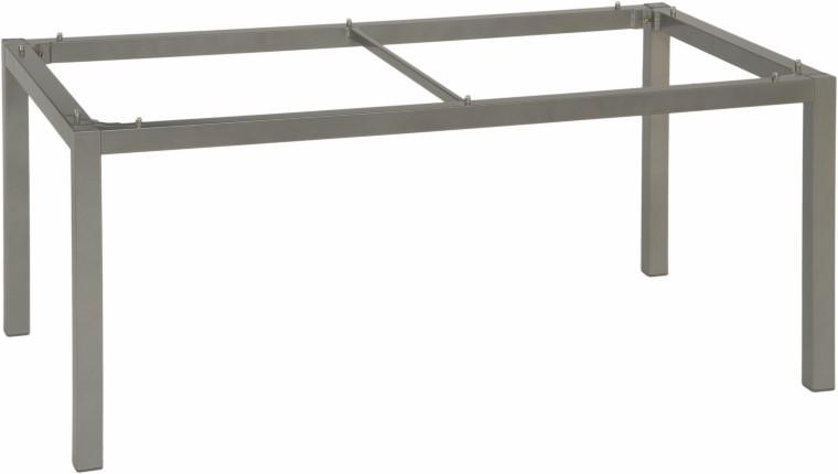 Pied de table aluminium graphite gris 250x100x72 cm 301280