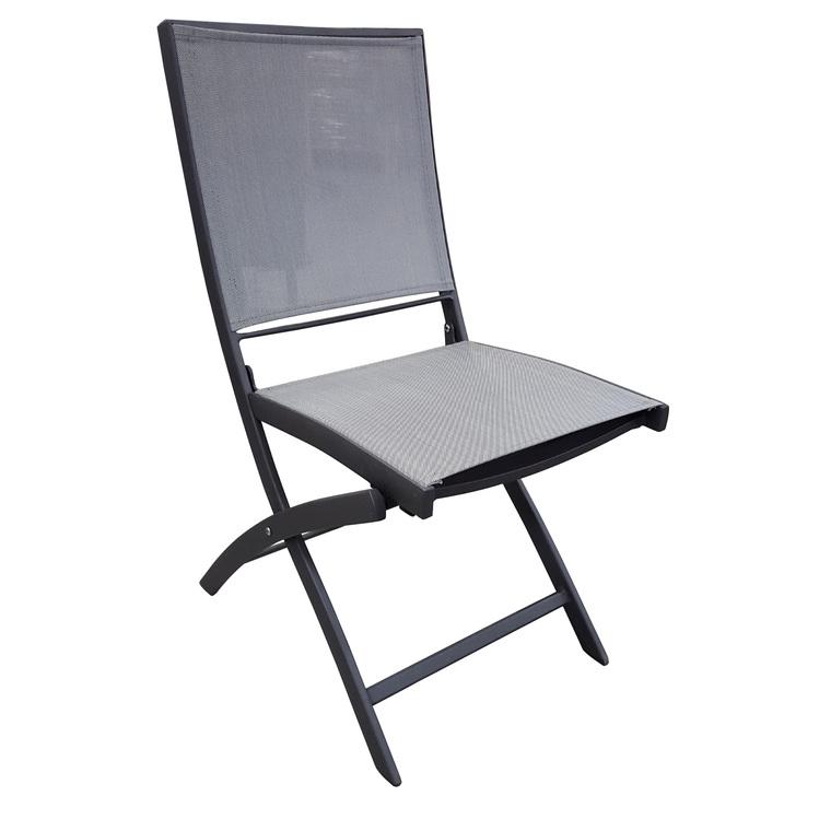 Chaise pliante Carlina grise 302727