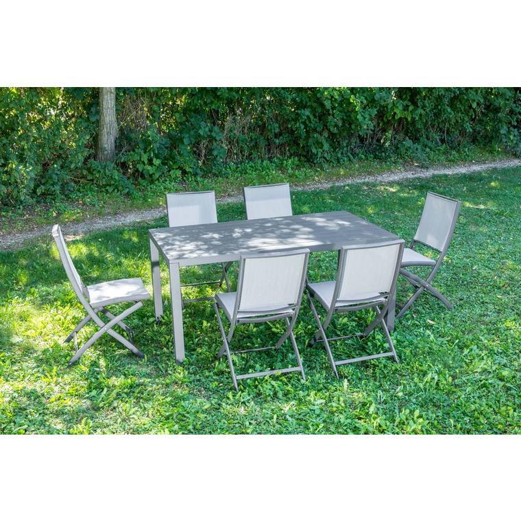 Chaise pliante Carlina noir/gris argent 62 x 42 x 90 cm 302727