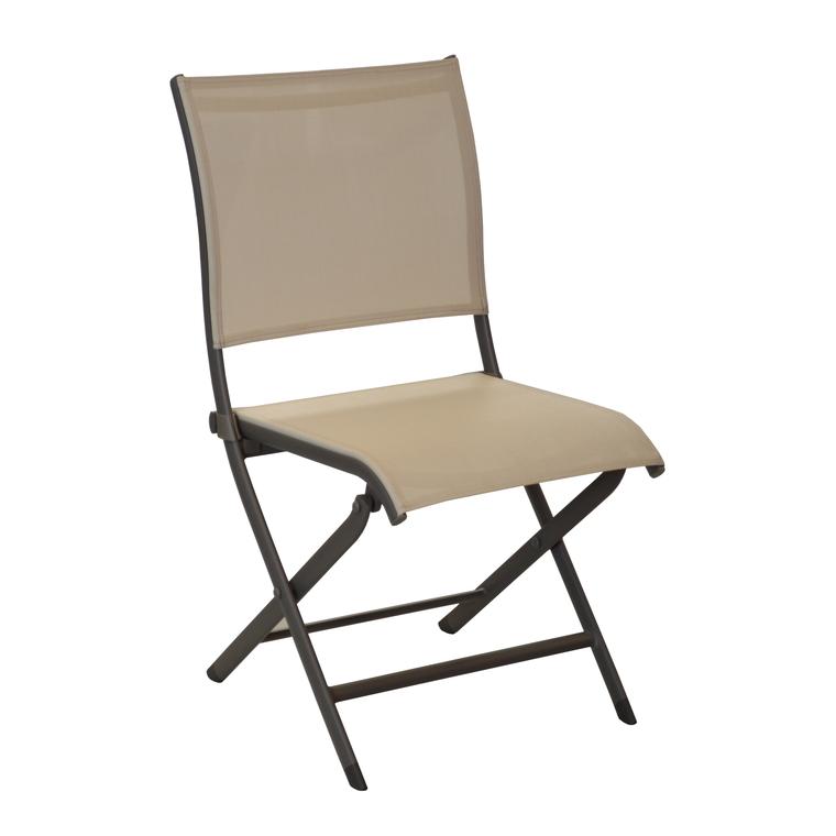 Chaise de jardin Elégance couleur café / beige 302829