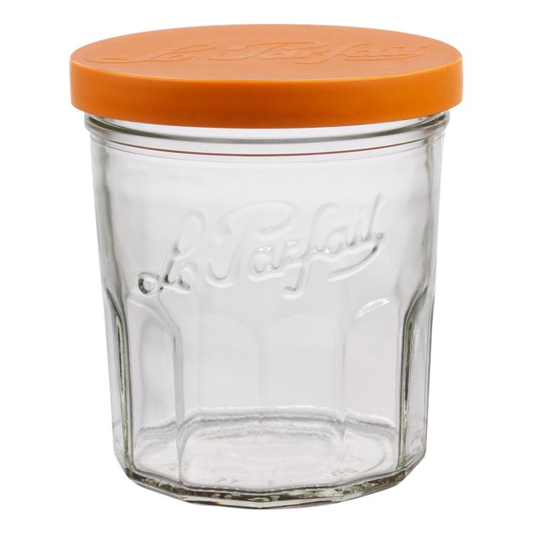 Pack de 6 pots à confiture 324 ml avec couvercle Ø 9,3 x H 9,5 cm 116887