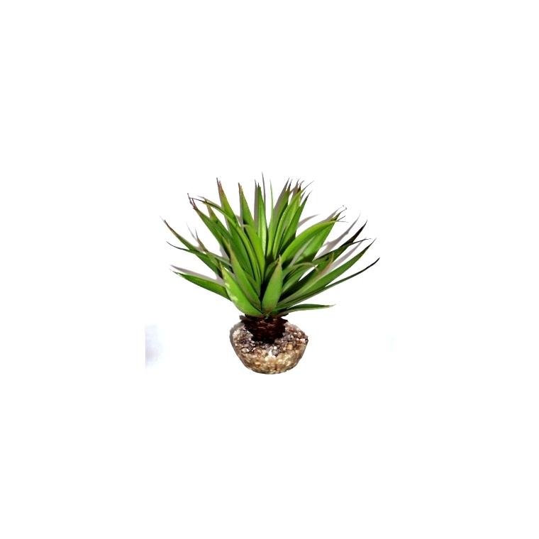 Plante succulente verte en tissu moyen modèle Ø 10 cm 304505