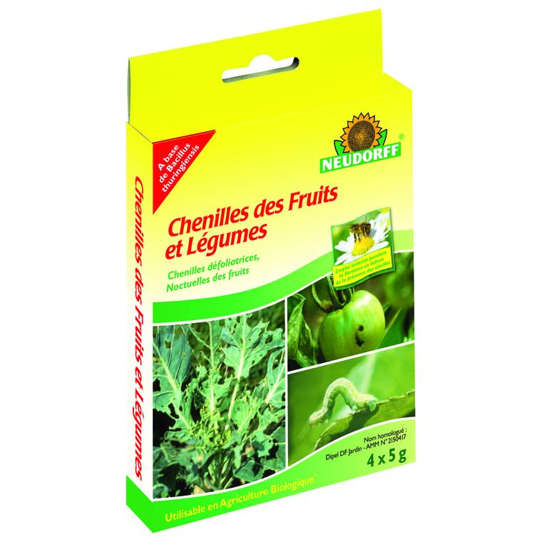 Chenilles fruits et légumes 5 g X4 304947