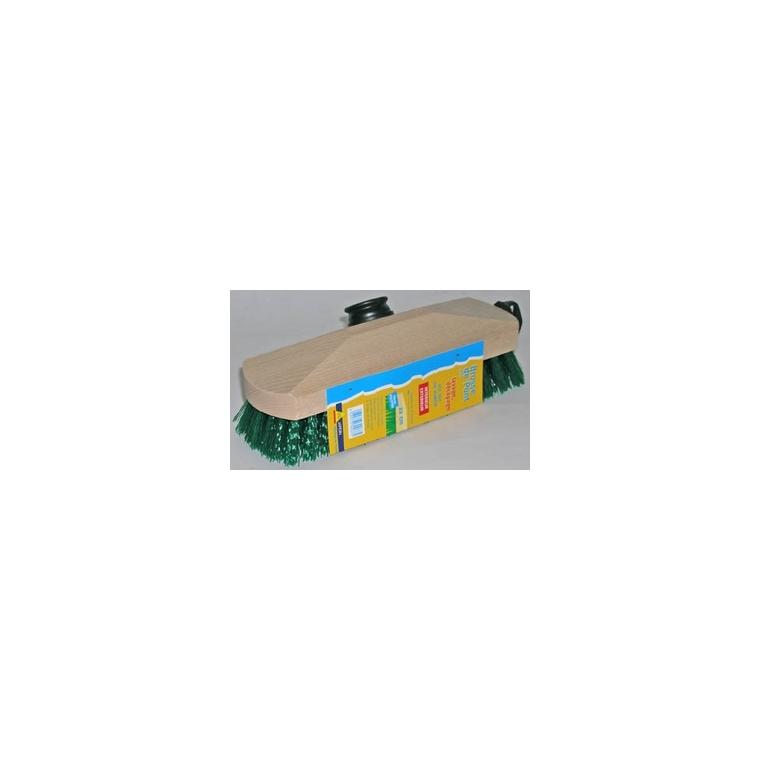Balai brosse de pont en polypropylène beige/vert 22,5 cm 307362
