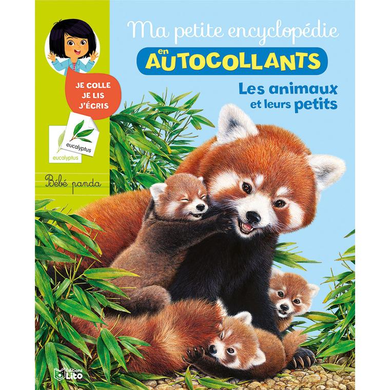 Les Animaux et Leurs Petits Ma Petite Encyclopédie en Autocollants 5 à 8 ans Éditions Lito 309518