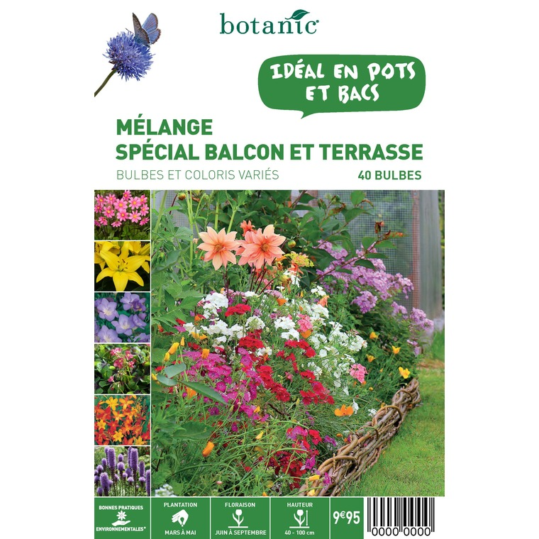 40 bulbes de Mélange spécial Balcon Terrasse – Couleurs variées 310355