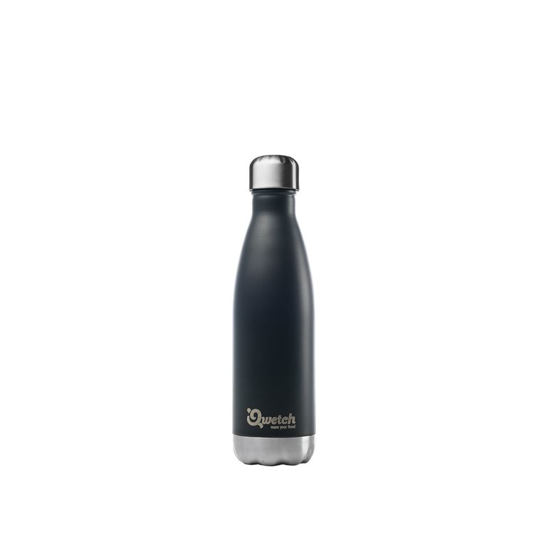 Bouteille isotherme inox Noir 500 ml H 27 cm 310392
