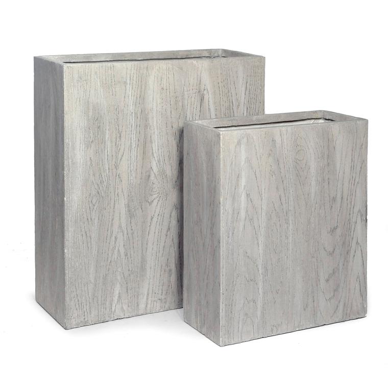 grande jardini re haute lia s 2 gris beige 220 8l pots et contenants plantes mega collections. Black Bedroom Furniture Sets. Home Design Ideas