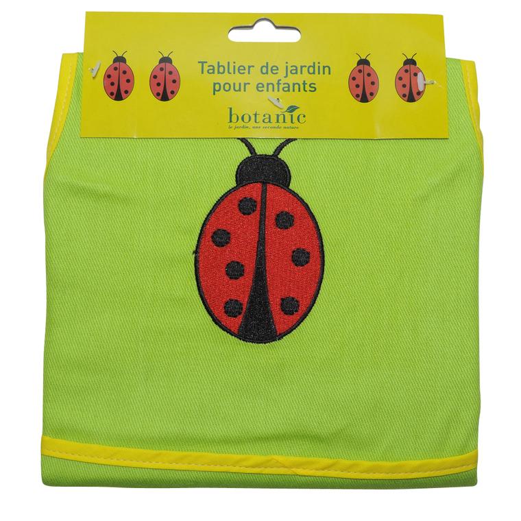 Tablier de jardinage pour enfant motif coccinelle id es cadeaux pour enfants botanic maison - Tablier jardinage enfant ...