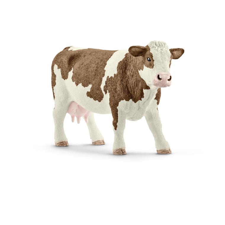 Figurine Vache Simmental Série Animaux de la ferme 13x4x7,7 cm 316012