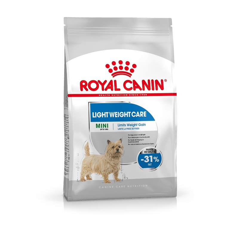 Croquette 8kg Mini adulte light Royal Canin 320279