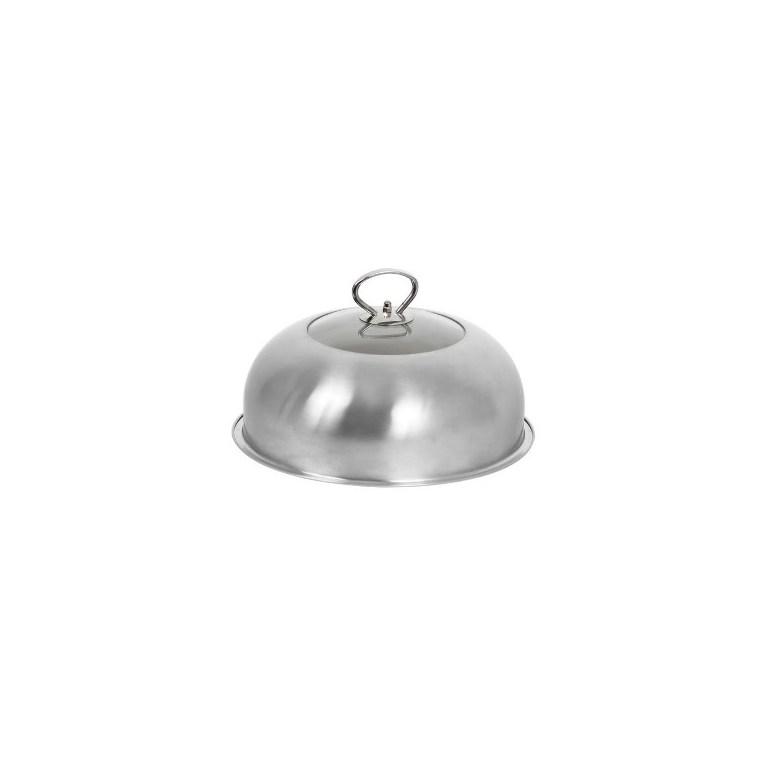 Cloche pour barbecue en inox et en verre – Ø40 cm 320450
