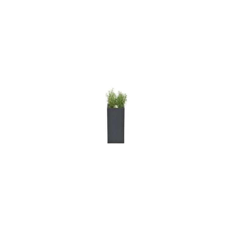 Pot carré haut GENEVE 28x28xH.60 Gris 32096
