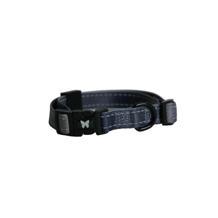 Collier chien réglable 16mm / 35-45cm gris 323719