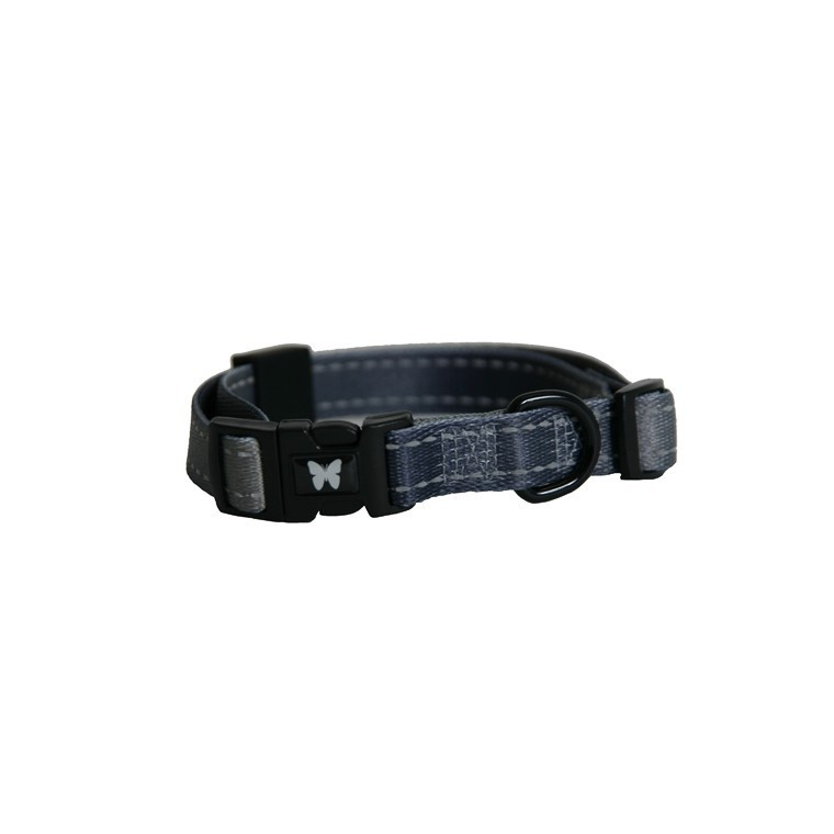 Collier chien réglable 25mm / 45-65cm gris 323723