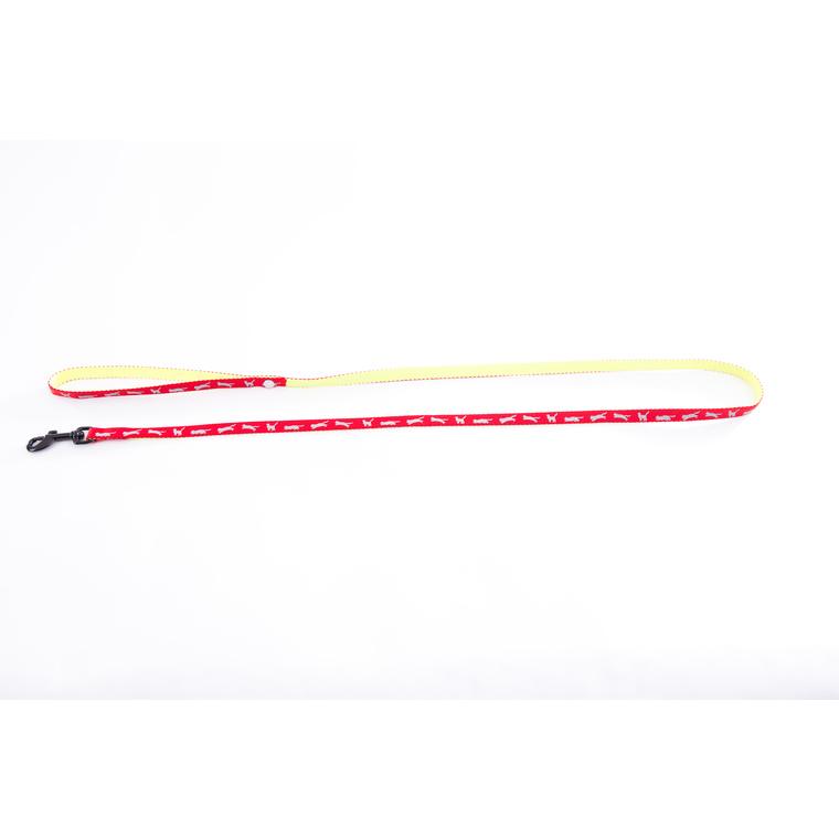 Laisse Cat Bi-color pour chat rouge - 120 cm 323833