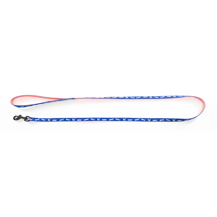 Laisse Cat Bi-color pour chat bleue - 120 cm 323835