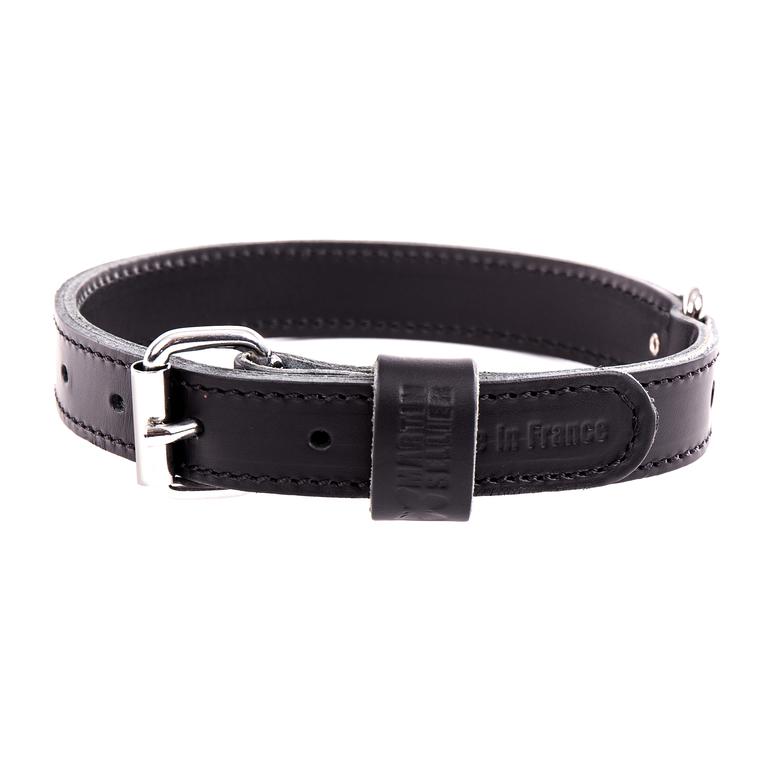 Collier double épaisseur noir 30/75 cm 323870