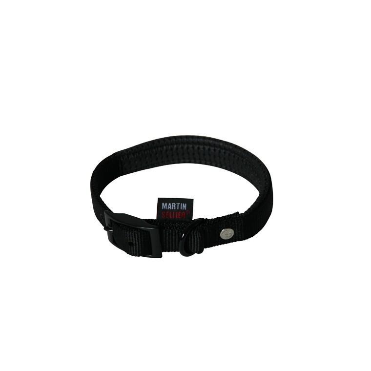 Collier chien 45cm noir confort 20mm