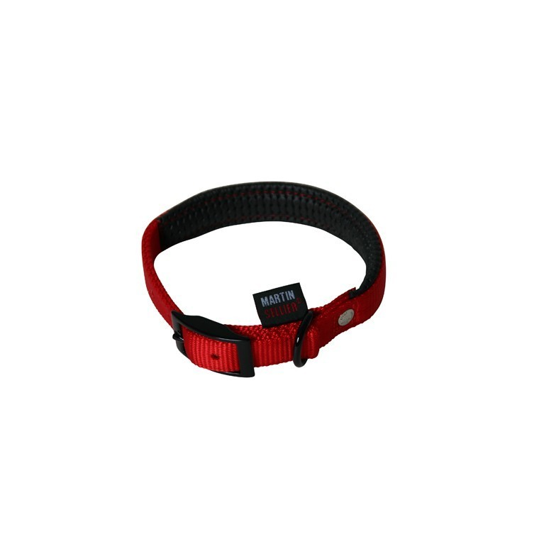 Collier chien 55cm rouge confort 25mm