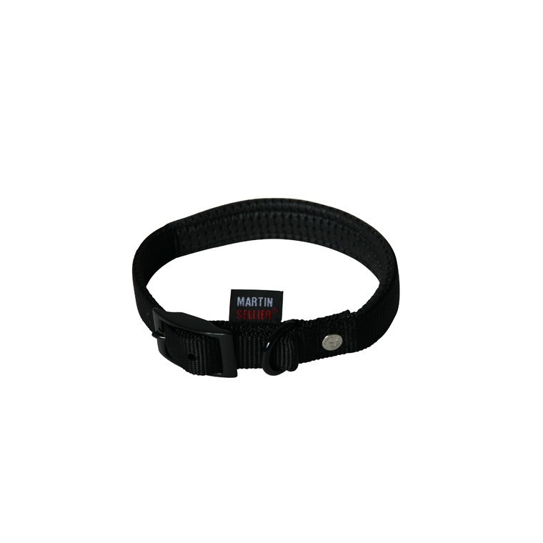 Collier chien 55cm noir confort 25mm 323951