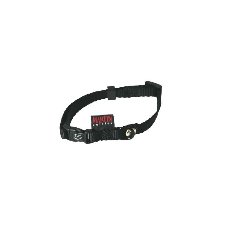 Collier chien réglable 10mm / 20-30cm noir 323979
