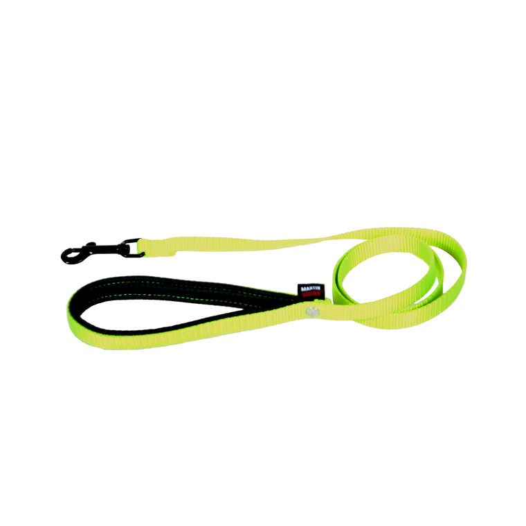 Laisse en nylon vert citron pour chien - 2,5x120 cm 324115