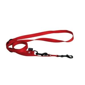 Laisse chien dressage 3pt 20 mm / 200 cm rouge