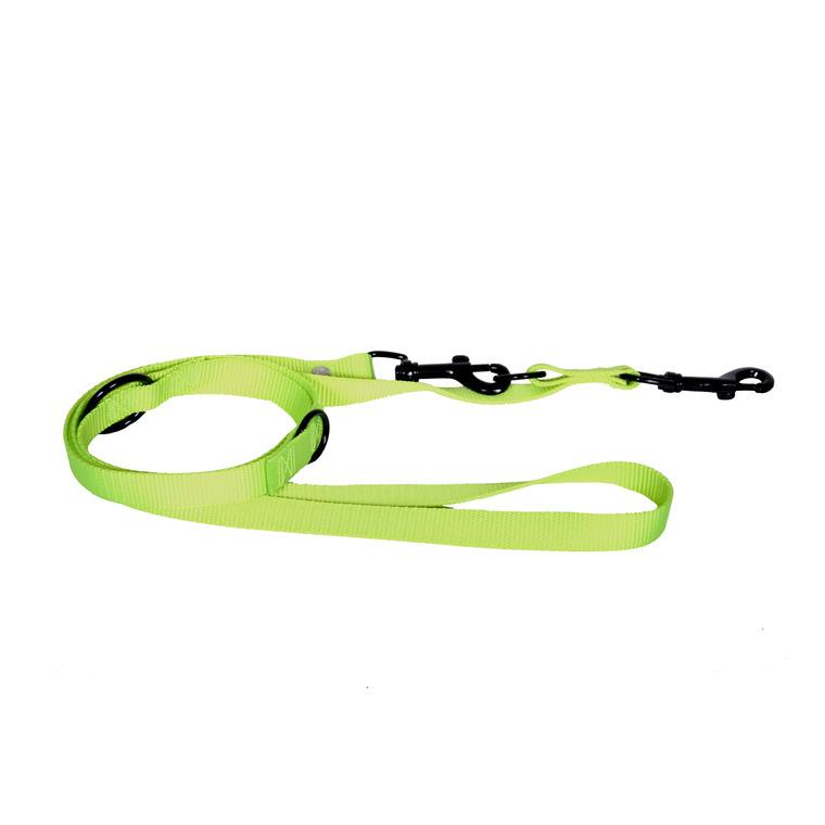 Laisse de dressage 3 positions vert citron 2x200 cm 324123
