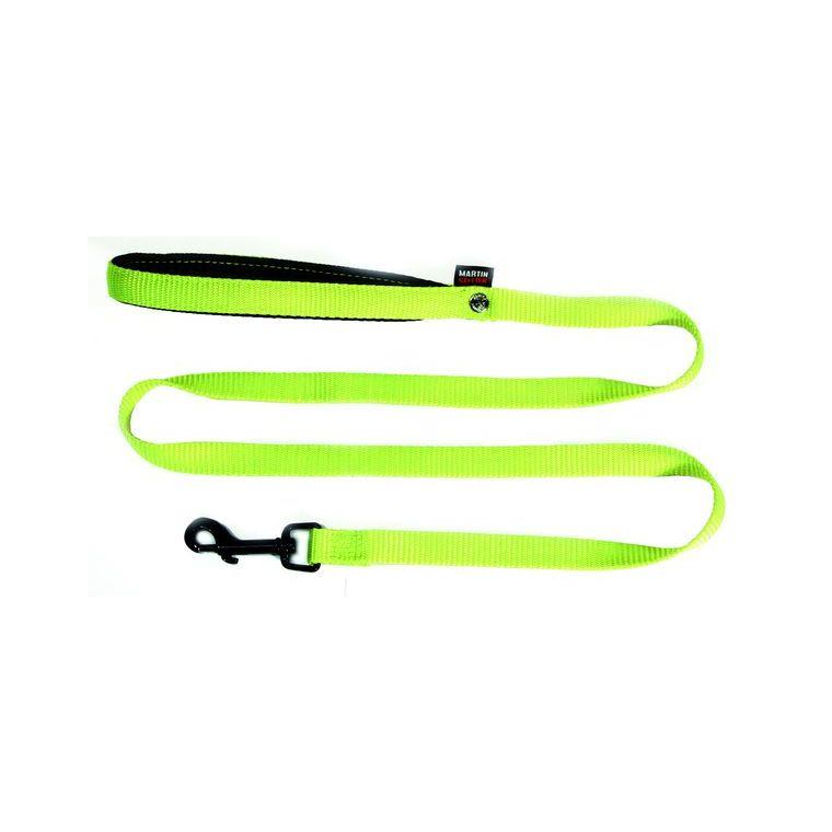 Laisse en nylon vert citron pour chien - 1,6x120 cm 324179