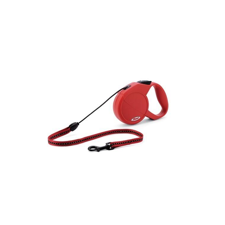 Laisse enrouleur Flexi Classic Basic 2 rouge 5 m