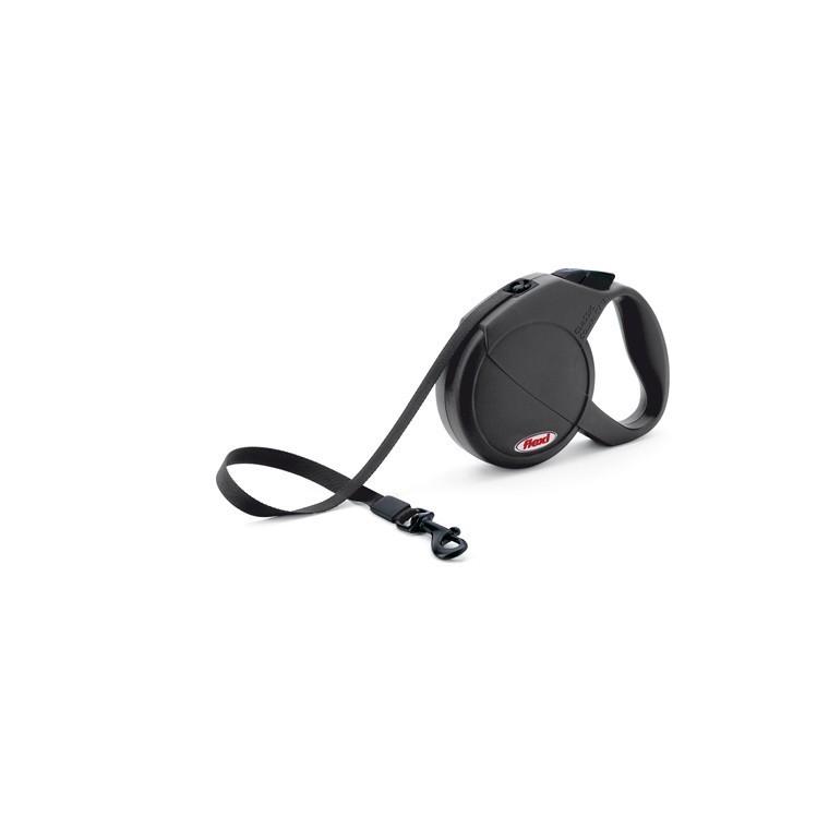 Laisse enrouleur Flexi Classic Compact 2 noire 2 m
