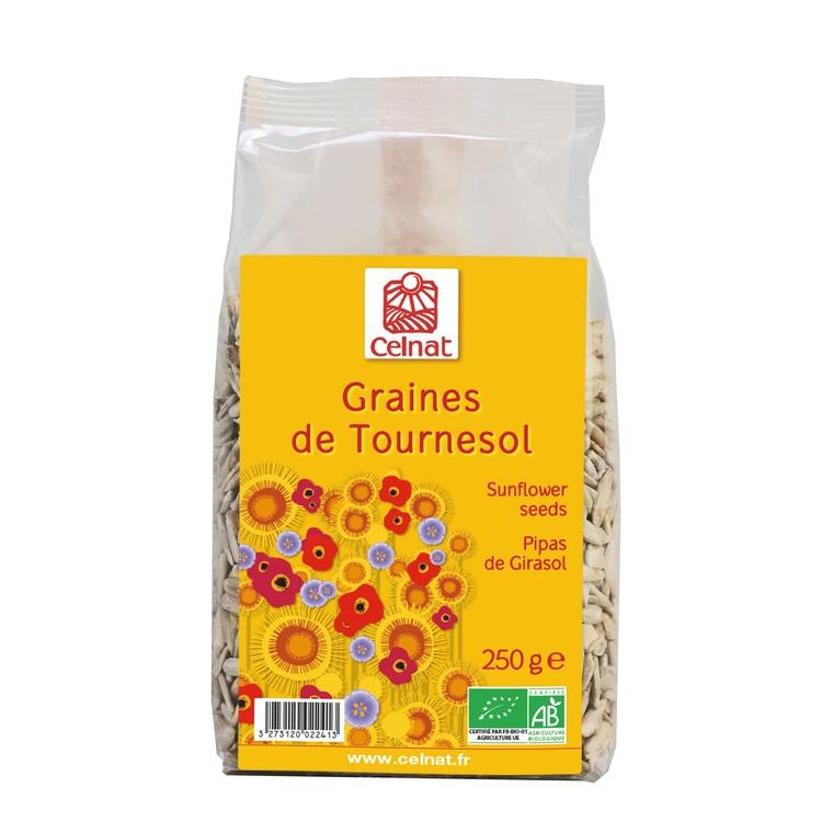 Graines de tournesol bio en sachet de 250 g 356847