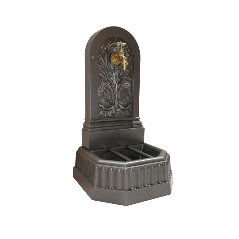 Fontaine Salamandre couleur grise avec robinet Colvert - 70 cm de haut 332592