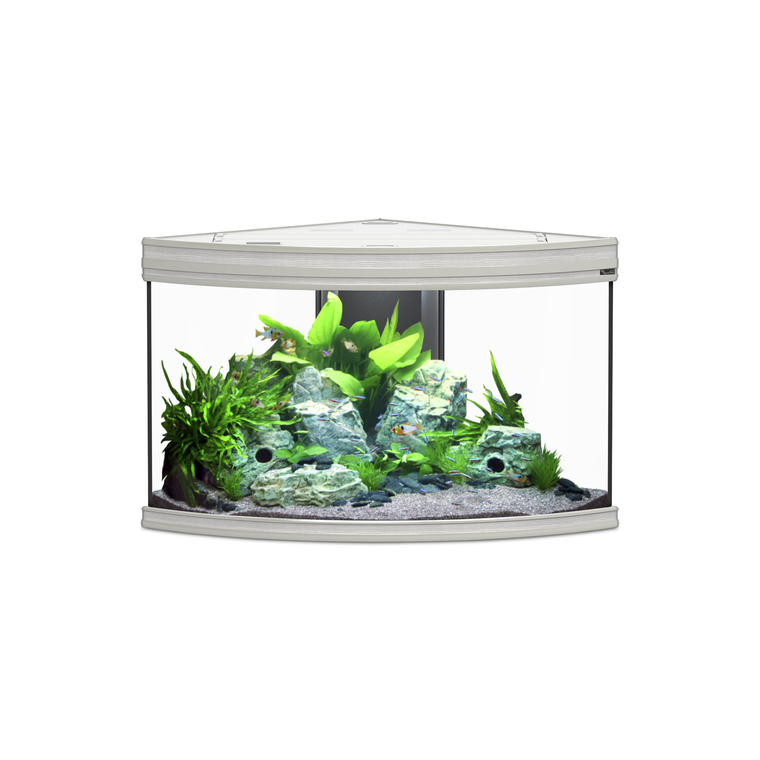 Aquarium Fusion Corner 100 LED Chêne Blanc 100x75x60 cm 334208
