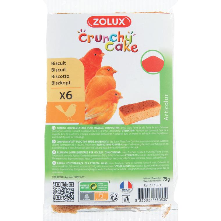 Lot de 6 crunchy cake acticolor pour oiseaux 334517